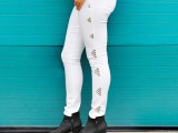Gentle And Rock'N'Roll DIY Triangle Studded Jeans3