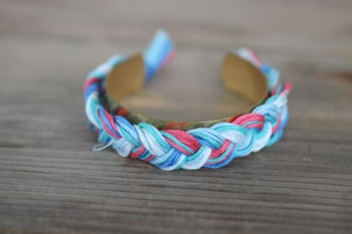 Gentle DIY Braided Cuff Bracelet