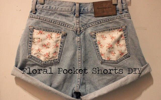 Gentle DIY Floral Pocket Shorts