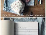 Gentle DIY Floral Pocket Shorts2