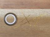 Geometric DIY Gold Striped Nails2