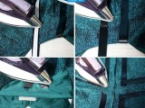 Geometric DIY Leather Striped Dress 4