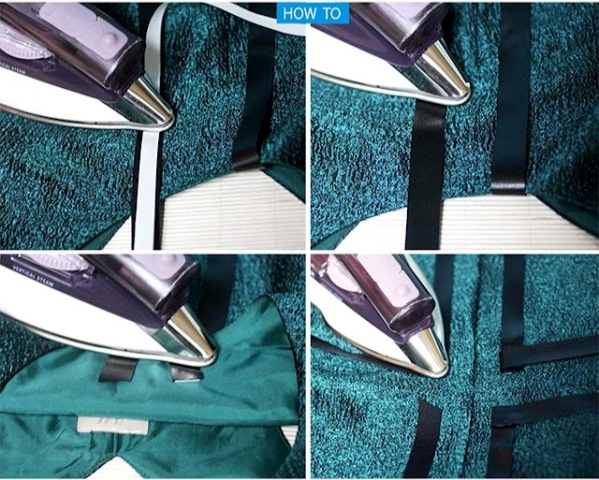 Picture Of Geometric DIY Leather Striped Dress 4