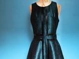 Geometric DIY Leather Striped Dress 5