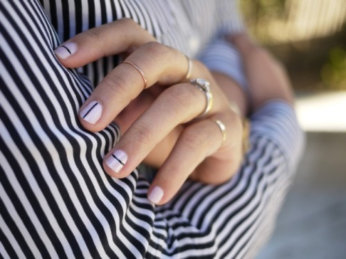 Geometric DIY Tibi Inspired Nail Art
