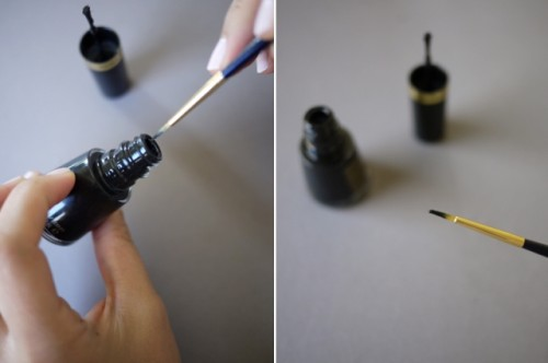 Geometric DIY Tibi Inspired Nail Art