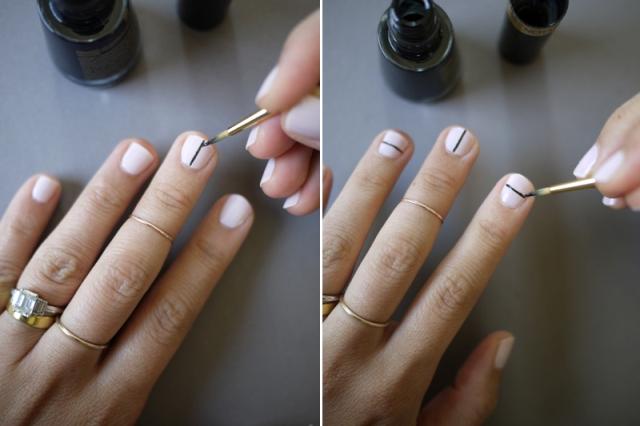 Picture Of Geometric DIY Tibi Inspired Nail Art 5