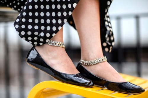 Girlish DIY Chain Ankle Strap Flats