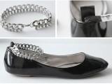 Girlish DIY Chain Ankle Strap Flats3