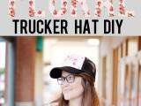 Girlish DIY Floral Trucker Hat