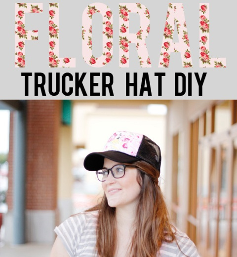Girlish DIY Floral Trucker Hat To Rock