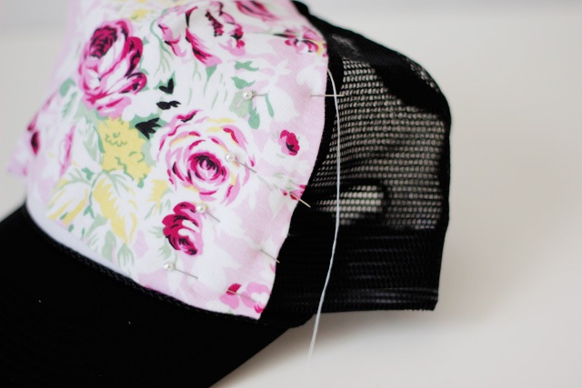Picture Of Girlish DIY Floral Trucker Hat 7