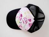 Girlish DIY Floral Trucker Hat8