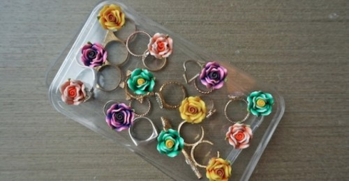 Girlish And Cute DIY Flower Jewelry Box