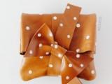 Girlish DIY Polka Dot Leather Clutch