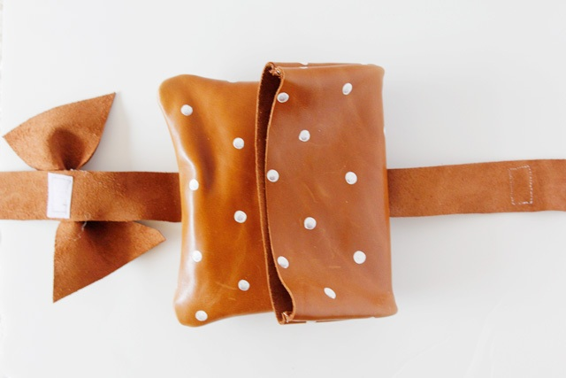 Picture Of Girlish DIY Polka Dot Leather Clutch 3