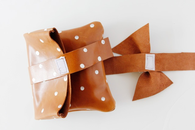 Picture Of Girlish DIY Polka Dot Leather Clutch 4