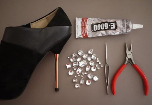 Glamorous DIY Miu Miu Jeweled Heels
