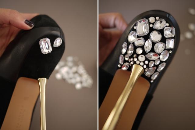 Picture Of Glamorous DIY Miu Miu Jeweled Heels 5