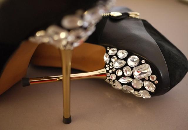 Picture Of Glamorous DIY Miu Miu Jeweled Heels 7