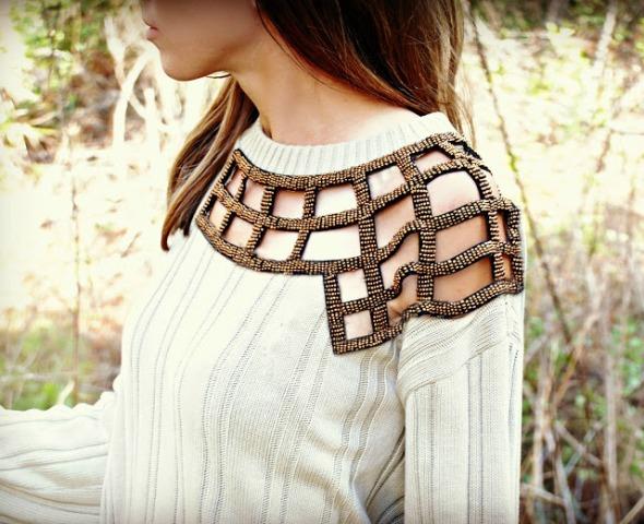 Gorgeous DIY Embellished Sweater