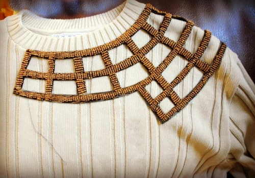 Gorgeous DIY Embellished Sweater