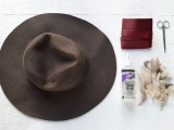 Gorgeous DIY Feather Trimmed Floppy Hat2