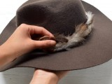 Gorgeous DIY Feather Trimmed Floppy Hat9