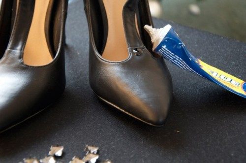Gorgeous and Easy DIY Studded Heels