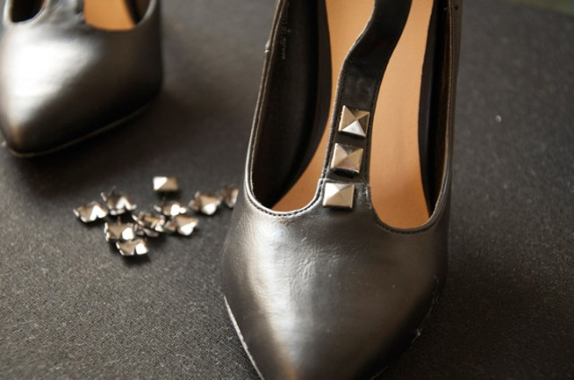 Picture Of Gorgeous DIY Studded Heels 5
