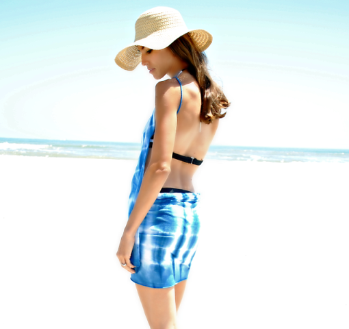 Picture Of Light DIY Beach Dress 2