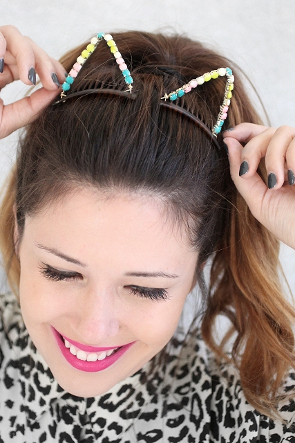 Lovely DIY Embellished Cat Ears