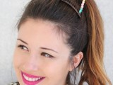 Lovely DIY Embellished Cat Ears2