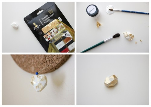 Lovely DIY Geometric Clay Necklace Pendant