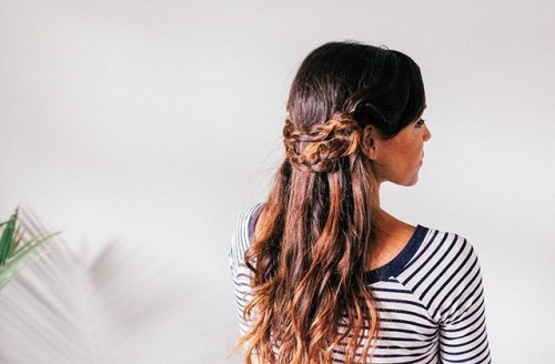 Lovely Boho-Inspired DIY Half Crown Braid