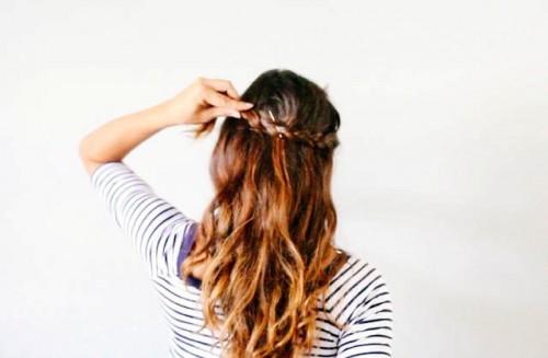 Lovely Boho Inspired DIY Half Crown Braid