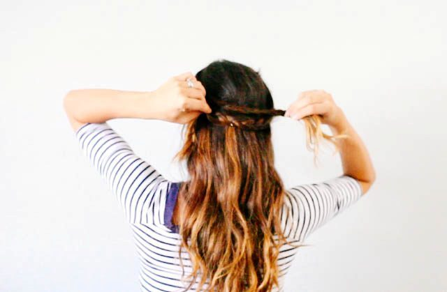Picture Of Lovely DIY Half Crown Braid 7