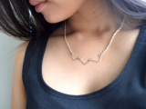 Minimalist DIY Chevron Wire Necklace8