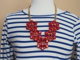 Nautical DIY Red Necklace