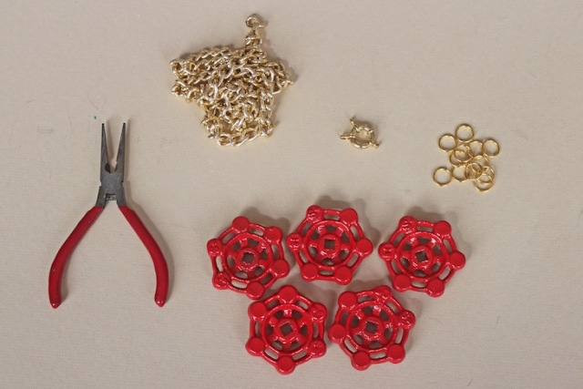 Picture Of Nautical DIY Red Necklace 2