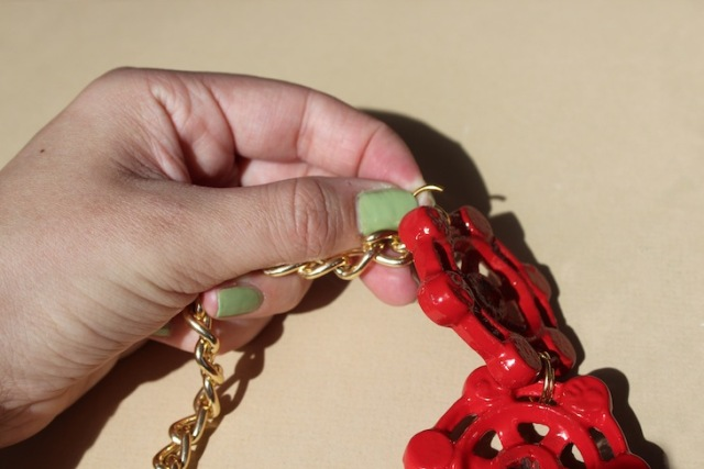 Picture Of Nautical DIY Red Necklace 7