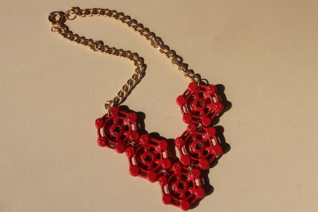 Picture Of Nautical DIY Red Necklace 8