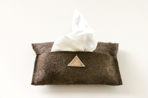 Necessary DIY Leather Travel Tissue Pouch