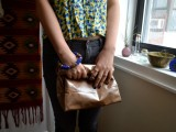 No Sew DIY Leather Paper Bag Clutch12