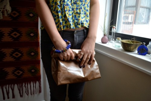 No Sew DIY Leather Paper Bag Clutch