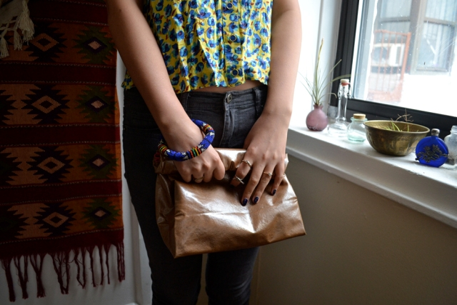 Picture Of No Sew DIY Leather Paper Bag Clutch 12