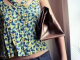 No Sew DIY Leather Paper Bag Clutch13