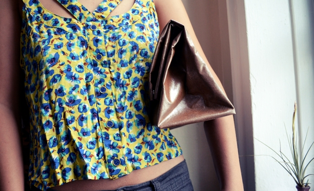 Picture Of No Sew DIY Leather Paper Bag Clutch 13