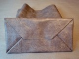 No Sew DIY Leather Paper Bag Clutch9
