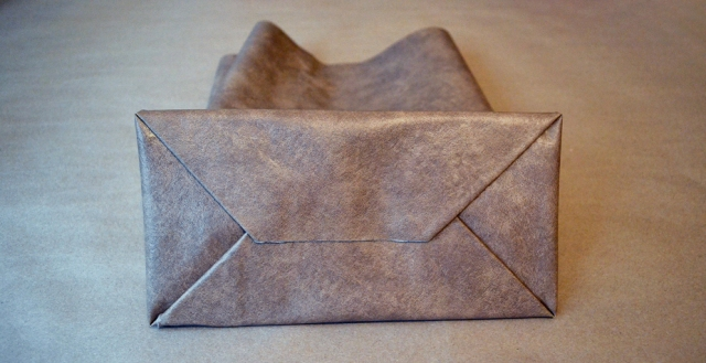 Picture Of No Sew DIY Leather Paper Bag Clutch 9